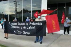 Reclaman además suministro de batas, mascarillas y tapabocas. Foto: José Vásquez.
