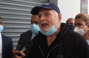 Ricardo Martinelli, expresidente de la República de Panamá, a su llegada al edifico Avesa del Ministerio Público. Víctor Arosemena