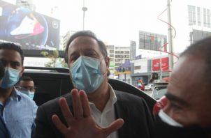 El jueves pasado, Varela fue indagado, imputado y se le dictaron medidas cautelares por el caso Odebrecht.  Víctor Arosemena