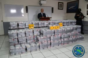 El 18 de mayo ubicó dos contenedores con 550 kilogramos de cocaína en el muelle Gastón Kogan, en la provincia de Limón; la droga estaba escondida en las paredes y tenía como destino Puerto Barrios, Guatemala. FOTO/REVISTA DIÁLOGO AMÉRICA