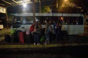 Nicaragüenses estuvieron varados en Panamá por la COVID-19.