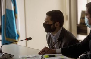 Ricardo Alberto Martinelli Linares, ayer durante su comparecencia en un tribunal en Guatemala. EFE