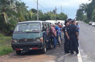 Reunidos con las autoridades provinciales, los transportistas expusieron la necesidad de un subsidio. Fotos: Thays Domínguez.