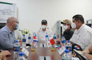 Se ha establecido una hoja de ruta, dijo el ministro de Seguridad de Panamá, Juan Manuel Pino Forero. Fotos: Cortesía.