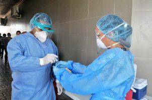 Las enfermeras también están en la primera línea de contagio. Twitter Minsa.