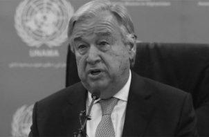 """El secretario general de la ONU, António Guterres, dice que se necesita """"ahora más que nunca de un nuevo liderazgo global"""", porque no se está respondiendo de forma efectiva a retos como la pandemia de la COVID-19. FOTO: EFE."""