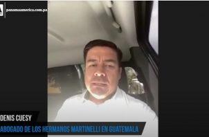 Denis Cuesy, representante legal de los hermanos Martinelli Linares en Guatemala.