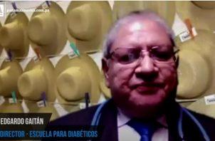 Edgardo Gaitán, director de la Escuela para Diabéticos