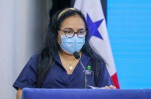 La doctora Lourdes Moreno es la jefa nacional de Epidemiología del Ministerio de Salud.