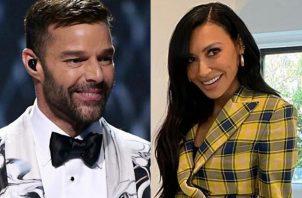 Ricky Martin y Naya Rivera. Foto: Instagram