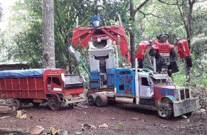 Réplica de Optimus Prime. Foto: Cortesía