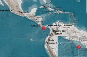 El sismo tuvo réplicas en la provincia de Chiriquí y en las provincias centrales.