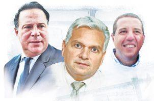 Juan Carlos Varela, Jaime Lasso y Andre Rabello.