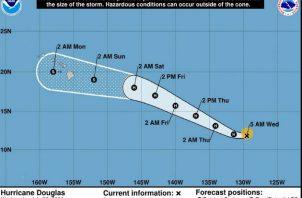 No se descarta que impacte a Hawái a partir del domingo 26 de julio como huracán categoría 1. Fotos: EFE.