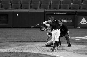 El jardín derecho de los Yankees de Nueva York, Aaron Judge, durante un juego de exhibición antes del inicio de la temporada. Foto: EFE.