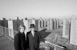 Donald J. Trump y su padre, Fred Trump, en 1973. Donald siguió los pasos de su padre en los bienes raíces. Foto / Barton Silverman/The New York Times.