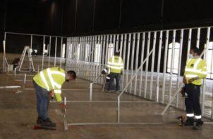 El Centro de Convenciones Figali estará listo la próxima semana para recibir a los pacientes que sean trasladados a este albergue. Archivo.