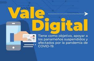 El vale digital se entrega mensualmente.