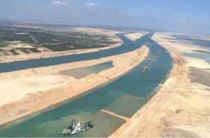 El nuevo Canal de Suez se inauguró en el 2015. EFE