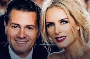 Enrique Peña Nieto y Tania Ruiz. Foto: Instagram