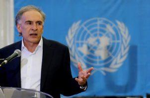 Enviado especial de Naciones Unidas para Bolivia, Jean Arnault. FOTO/EFE