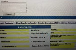 Contraloría confirmó que vehículo pertenece a la Autoridad de Aseo.