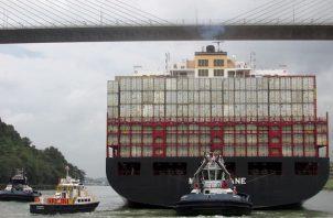 Los peajes del Canal de Panamá mostraron un aumento por el orden del 0.2% con un incremento en el tránsito de buques Neopanamax en 9.1%. Foto/Cortesía
