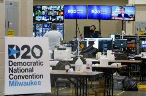 La convención transcurre por primera vez en la historia de manera virtual debido a la pandemia. Fotos: EFE.