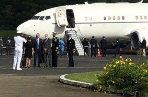 El Asesor de Seguridad Nacional del presidente Donald Trump, Robert O'Brien llegó a Panamá. @Aerotocumen