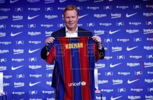 Ronald Koeman fue presentado como nuevo técnico del Barcelona. Foto:EFE