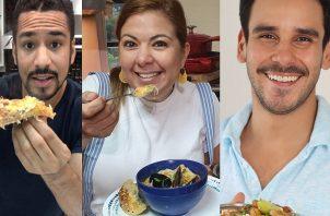 Juan Neblett, Delyanne Arojona y Alexis Sittón. Instagram