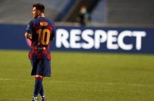 Messi es figura del Barcelona. Foto:EFE