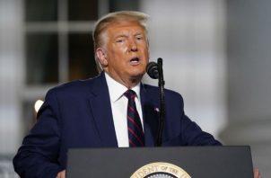 """""""China se apoderaría de nuestro país, si Joe Biden es elegido"""", dijo Trump en su discurso. Fotos: EFE/Archivo.."""