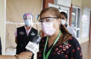 Elvia Lau, directora Nacional de Farmacia y Drogas del MINSA.