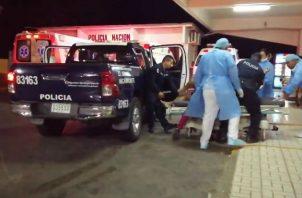 El herido fue trasladado al hospital Nicolás A. Solano para recibir atención médica. Foto: Eric A. Montenegro.
