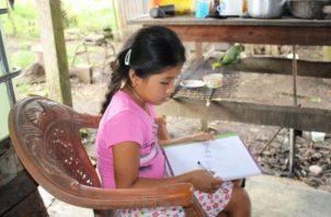 Un 90% de los estudiantes de la escuela multigrado Punuloso, en la provincia de Darién, han logrado continuar sus clases, ya que los docentes preparaban anteriormente guías para los estudiantes y se las hacían llegar por WhatsApp.
