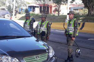 Los operativos de seguridad se mantienen en toda esta región chiricana. Foto: Mayra Madrid.