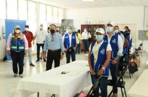 El presidente Cortizo participó ayer en una reunión con el Equipo Unificado de Trazabilidad, en la provincia de Coclé.