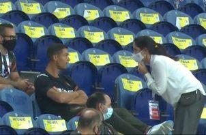 Cristiano Ronaldo no pudo jugar con su selección.