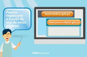"""El beneficio del """"Plan Educativo Solidario"""" debe tramitarse a través de las páginas www.meduca.gob.pa y www.panamadigital.gob.pa."""