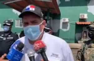 El ministro de Seguridad Juan Pino, participó en Chiriquí de la destrucción de varias armas.
