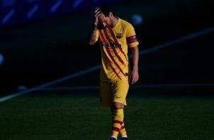 Leo Messi tuvo actividad en el partido de ayer ante el Nástic. EFE
