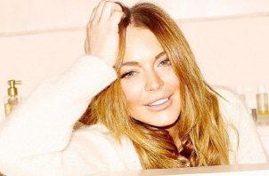 Lindsay Lohan firmó un contrato en el 2014, con la editorial Harpercollins. Foto: Instagram