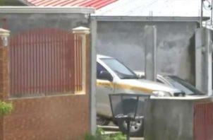 Foto del vehículo usado por el funcionario en La Chorrera.
