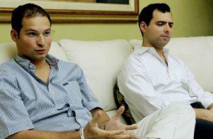 Luis Enrique y Ricardo Alberto Martinelli Linares fueron detenidos ilegalmente en Guatemala cuando se disponían a regresar a suelo panameño. Archivo