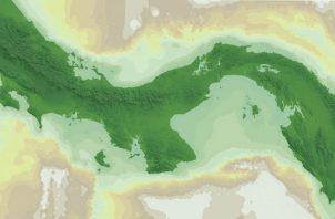 Costa de Panamá en el presente. Curva de nivel de mar, Miller et al. 2005. Foto: Cortesía