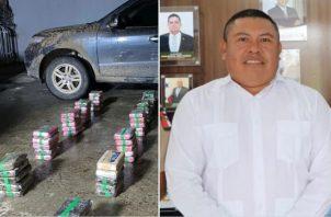 Al exgobernador de Guna Yala, Erick Martelo Robinson, le decomisaron 79 paquetes de cocaína que llevaba ocultos en un vehículo en el que se transportaba.