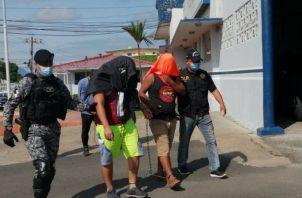 La presunta marihuana incautada en San Carlos, estaba en tres sacos. Fotos: Eric A. Montenegro.