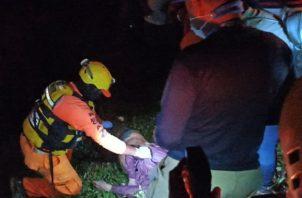 Personal del Sinaproc efectuó las labores de rescate. Foto: Mayra Madrid.
