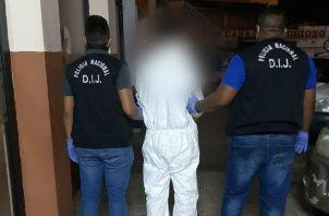 El sujeto está presuntamente implicado en el homicidio de Dilcio Pedrosa. Foto: Eric A. Montenegro.